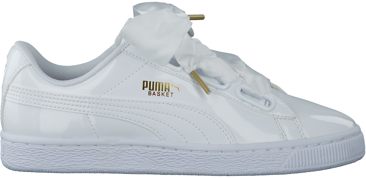 Witte PUMA Sneakers BASKET HEART PATENT | Omoda