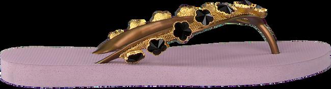 Paarse UZURII Slippers BLACK FLOWER - large