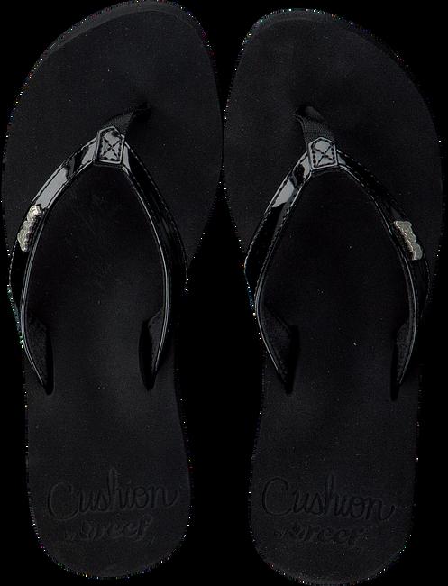 Zwarte REEF Slippers CUSHION LUNA  - large