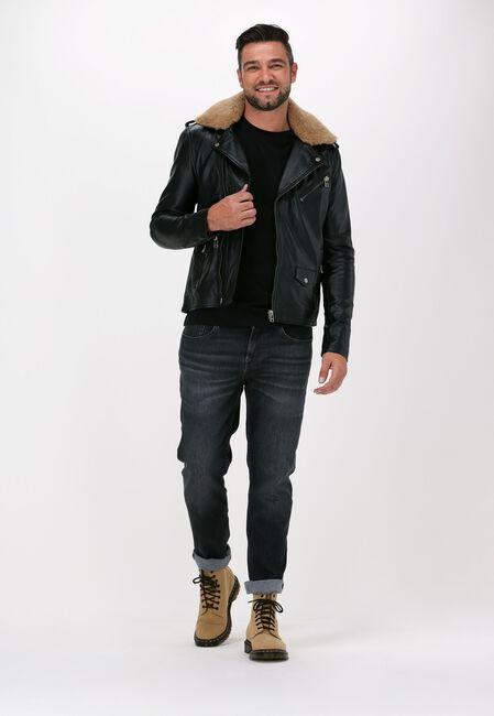 Zwarte GOOSECRAFT Leren jas GALLERY544  - large
