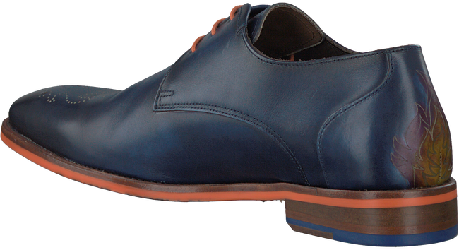 Blauwe FLORIS VAN BOMMEL Nette schoenen 18014  - large