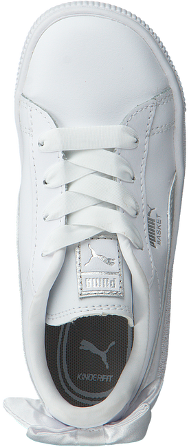Witte PUMA Sneakers BASKET BOW AC INF - large