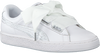 Witte PUMA Sneakers BASKET HEART OCEANAIRE - small