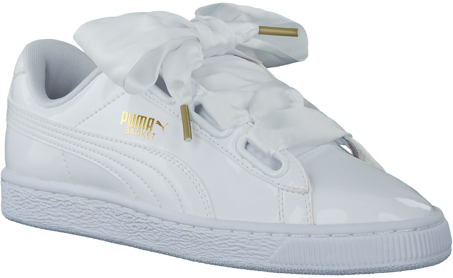 c5dc7a45f49 Witte PUMA Sneakers BASKET HEART PATENT - Omoda.nl