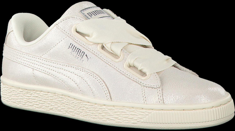 645d77beaa107c Witte PUMA Sneakers BASKET HEART NS DAMES - Omoda.nl