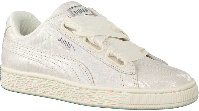 Witte PUMA Sneakers BASKET HEART NS DAMES  - large