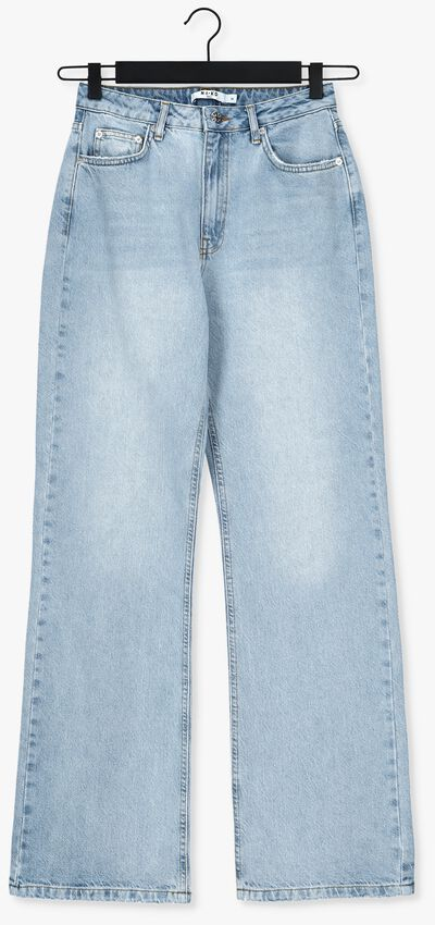 Lichtblauwe NA-KD Straight leg jeans RELAXED FULL LENGTH JEANS  - larger