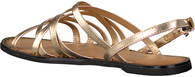 Gouden TOMMY HILFIGER Sandalen METALLIC STRAPPY FLAT SANDAL - large
