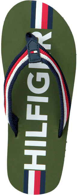 Groene TOMMY HILFIGER Teenslippers MAXI LETTERING PRINT FLIP FLOP  - large