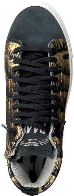 Zwarte P448 Hoge sneaker STAR WOMAN  - large