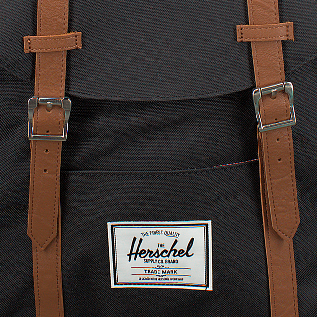 Zwarte HERSCHEL Rugtas RETREAT - large