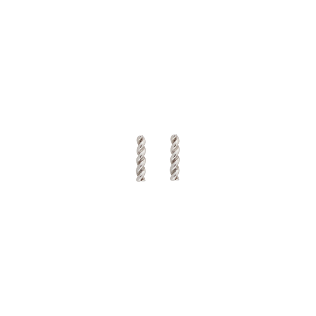 Zilveren ATLITW STUDIO Oorbellen PETITE EARRINGS TWISTED STRIP - large