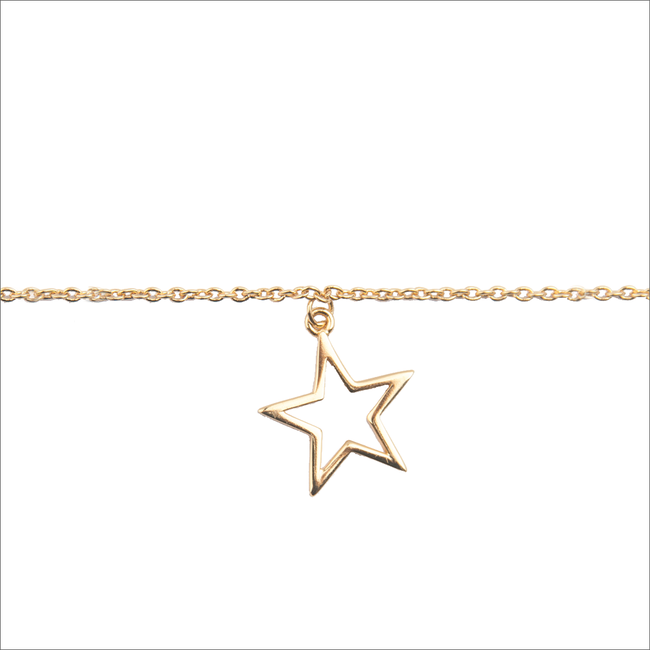 Gouden ALLTHELUCKINTHEWORLD Armband SOUVENIR BRACELET STAR - large