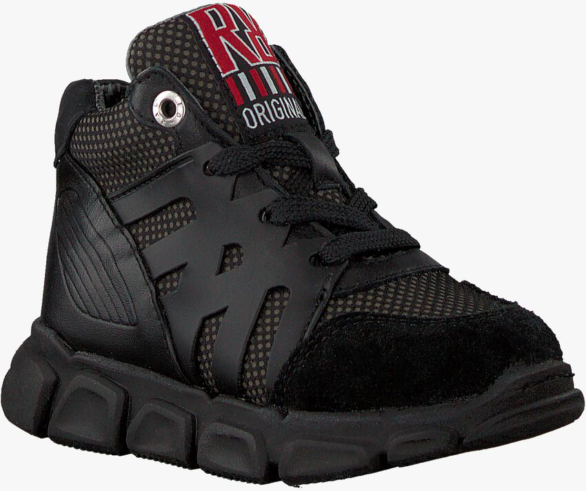 Zwarte RED-RAG Hoge sneaker 13159  - larger