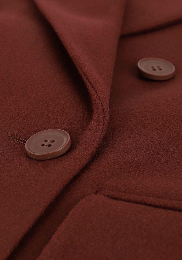 Bruine NA-KD Mantel OVERSIZED SIDE SLIT COAT  - larger