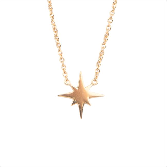 Gouden ALLTHELUCKINTHEWORLD Ketting SOUVENIR NECKALCE STAR BURST - large