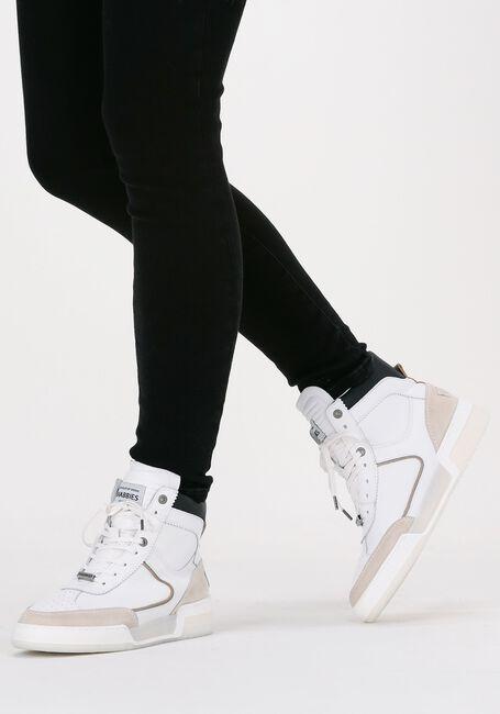 Witte SHABBIES Hoge sneakers 102020034 - large