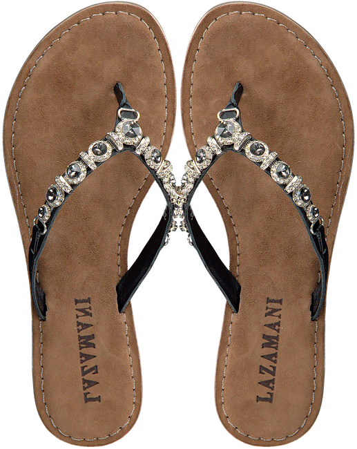 Zwarte LAZAMANI Slippers 75.341  - large