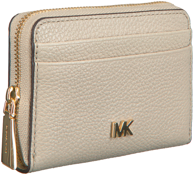 Beige MICHAEL KORS Portemonnee ZA COIN CARD CASE  - large