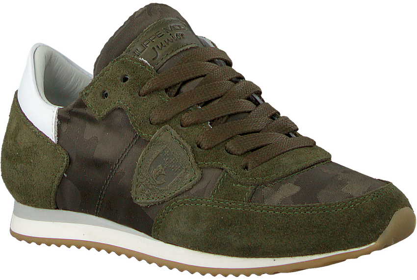 Groene PHILIPPE MODEL Sneakers TROPEZ CAMOUFLAGE  - larger