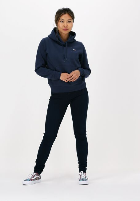 Blauwe TOMMY JEANS Sweater TJW REGULAR FLEECE HOODIE  - large