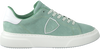 Groene PHILIPPE MODEL Sneakers TEMPLE FEMME  - small