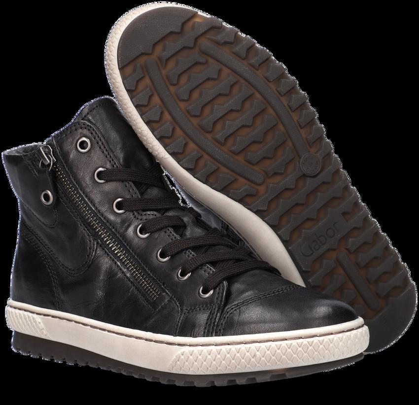 Zwarte GABOR Hoge sneaker 754  - larger