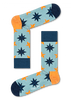 Blauwe HAPPY SOCKS Sokken NAUTICAL STAR SOCK  - small