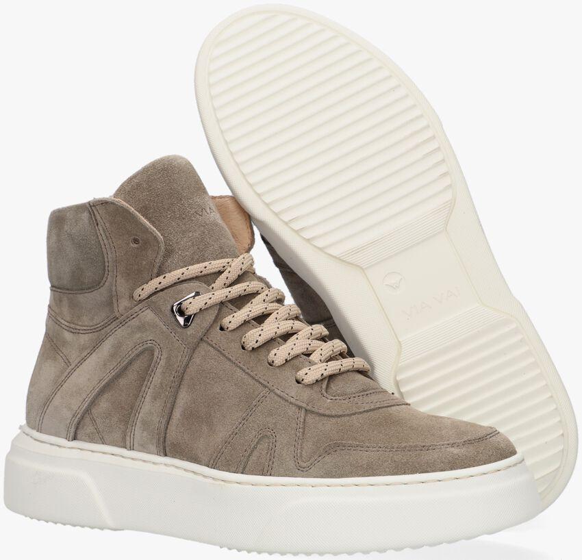 Groene VIA VAI Hoge sneaker JUNO  - larger