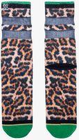 Bruine XPOOOS Sokken LUCY LEOPARD  - medium
