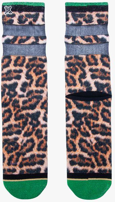 Bruine XPOOOS Sokken LUCY LEOPARD  - large