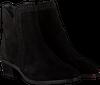 Zwarte HASSIA Enkellaarsjes 6742  - small