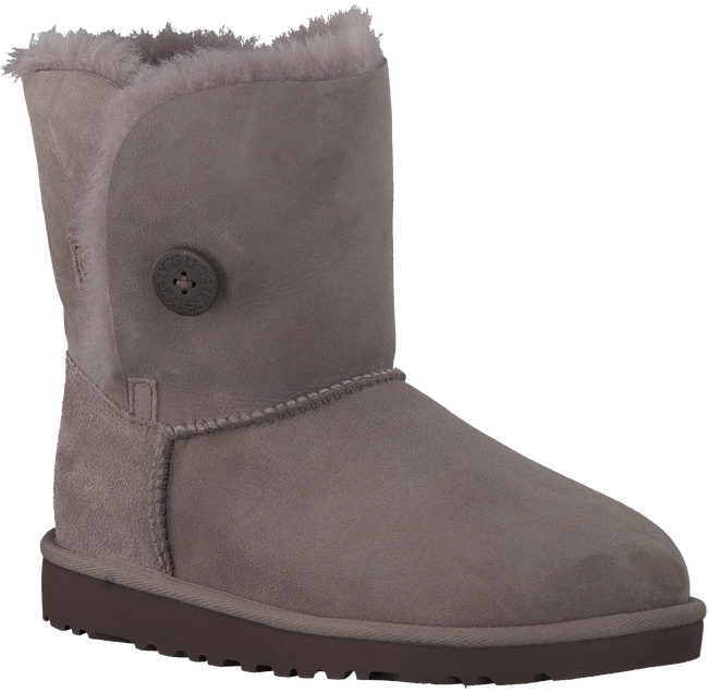 Grijze UGG Vachtlaarzen BAILEY BUTTON KIDS  - large