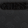Zwarte GUESS Portemonnee JANELLE SLG LARGE ZIP AROUND  - small