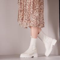 Witte NUBIKK Chelsea boots FAE ADAMS  - medium