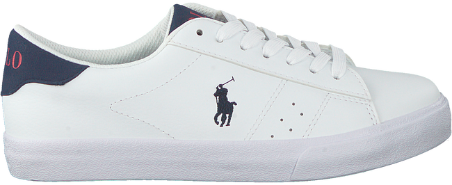 Witte POLO RALPH LAUREN Lage sneakers THERON  - large
