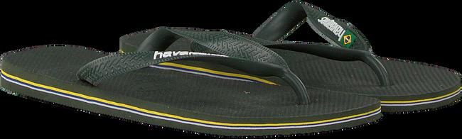 Groene HAVAIANAS Slippers BRASIL LOGO  - large