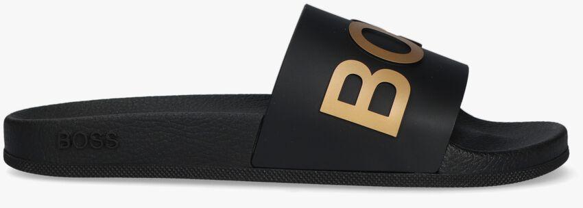 Zwarte BOSS Slippers BAY SLID RBLG  - larger