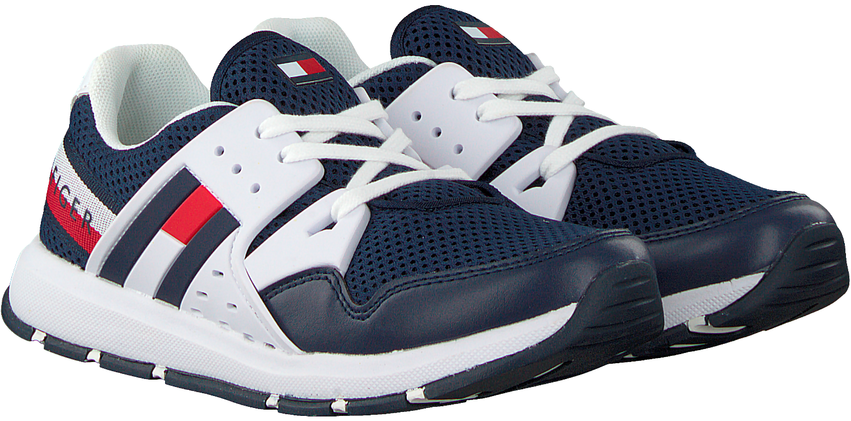 Blauwe TOMMY HILFIGER Sneakers LOW CUT LACE UP SNEAKER