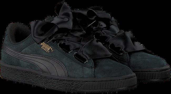 Zwarte PUMA Sneakers BASKET HEART PERF GUM WMN  - large