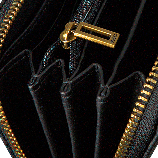 Zwarte GUESS Portemonnee DESTINY SLG LARGE ZIP AROUND  - large