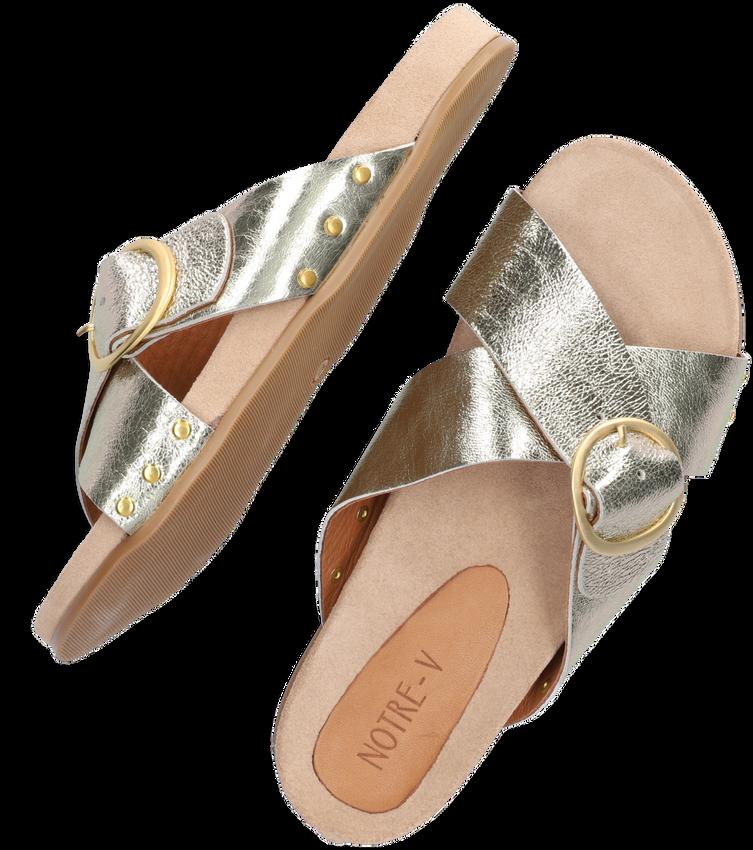 Gouden NOTRE-V Slippers 10318  - larger