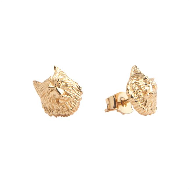 Gouden ATLITW STUDIO Oorbellen PARADE EARRINGS WOLF - large
