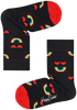 Zwarte HAPPY SOCKS Sokken KIDS RAINBOW SMILE  - small