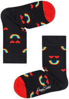 Zwarte HAPPY SOCKS Sokken KIDS RAINBOW SMILE  - medium