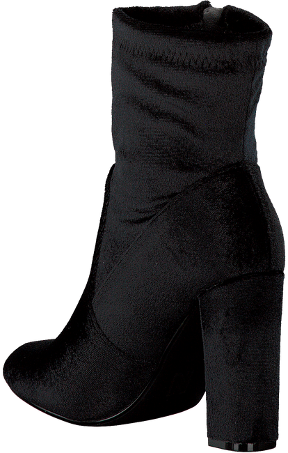 Zwarte NIKKIE Enkellaarsjes VELVET ANKLE BOOTS  - large