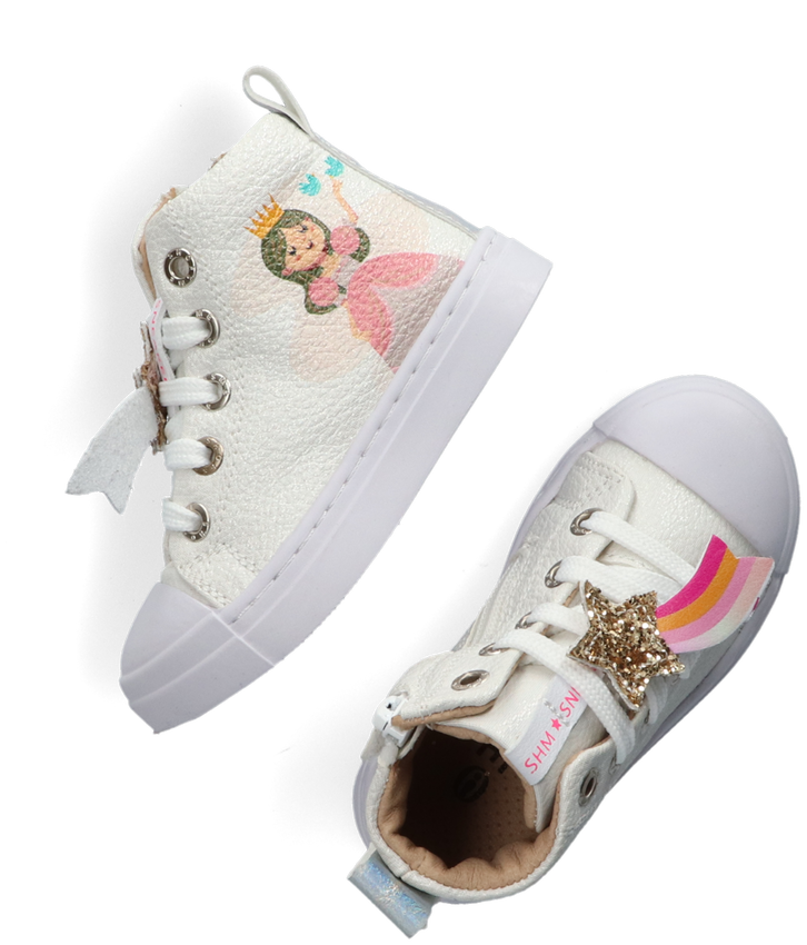 Witte SHOESME Hoge sneakers SH21S006 - larger