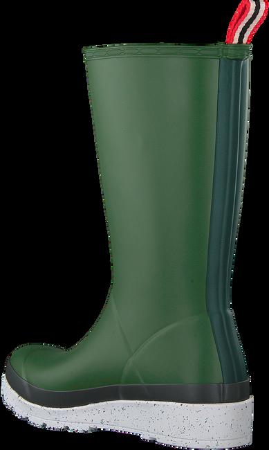 Groene HUNTER Regenlaarzen WOMENS PLAY TALL SPECKLE SOLE  - large