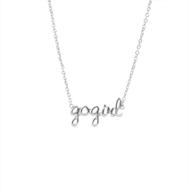 Zilveren ALLTHELUCKINTHEWORLD Ketting URBAN NECKLACE GOGIRL - large