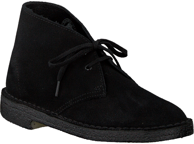 Zwarte CLARKS ORIGINALS Veterschoen DESERT BOOT DAMES - large